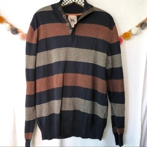 {Refectory} Striped Long Sleeve Sweater